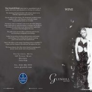 Glynhill Hotel Wine List... - The Glynhill Hotel & Leisure Club