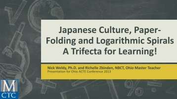 Japanese Culture, Paper- Folding and Logarithmic ... - Ohio ACTE