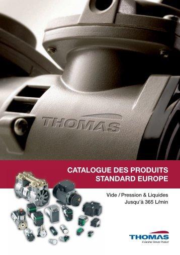CATALOGUE DES PRODUITS STANDARD EUROPE - Rtpumps.ch