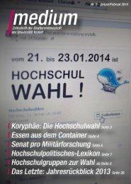 Aktuelle Ausgabe (Januar 2014) - AStA Universität Kassel