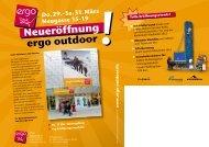 ergo outdoor Neueröffnung! - Ergo-Outdoor.de