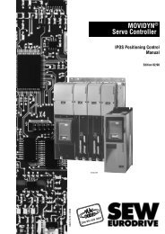 MOVIDYN® Servo Controller IPOS Positioning ... - SEW-Eurodrive