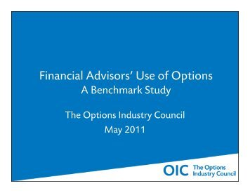 Financial Advisors' Use of Options A Benchmark Study - The Options ...
