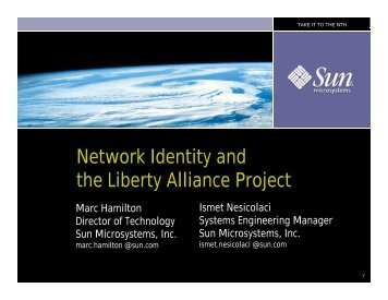Network Identity and the Liberty Alliance Project