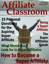 15 Personal Questions for the Aspiring Super Affiliate