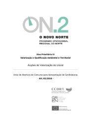 Acções de Valorização do Litoral (AVL/1/2010) - O Novo Norte - Qren