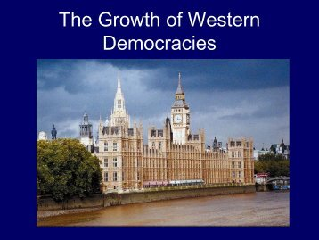 The Growth of Western Democracies - Monroe Public Schools