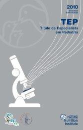 TEP 2010 - Sociedade Brasileira de Pediatria
