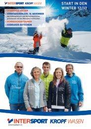 Start in den Winter 12/13 - Kropf Sport
