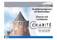 Chancen und Limitationen - QMR Kongress