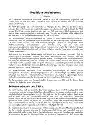 Koalitionsvereinbarung AStA Trier 2011 - Linke Liste Trier