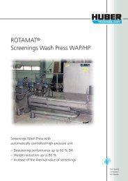 ROTAMAT® Screenings Wash Press WAP/HP - brochure deutsch