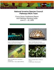 National Invasive Species Council Pathways Work Team - New York ...