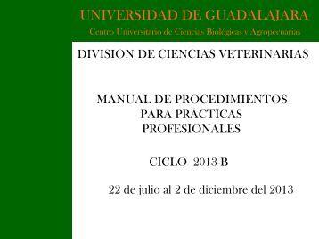 Manual de Procedimientos - Centro Universitario de Ciencias ...