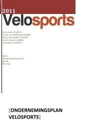 Ondernemingsplan velosports - Webklik