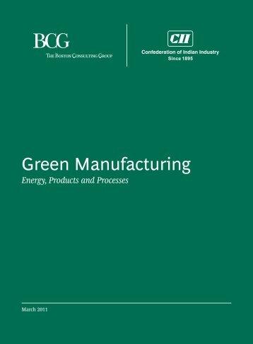 Green Manufacturing - CII