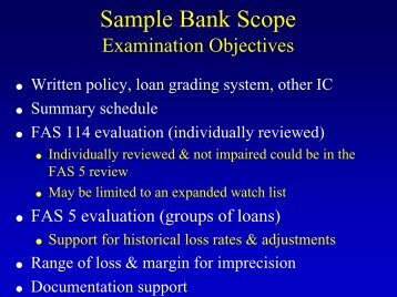 Sample Bank Scope - World Bank
