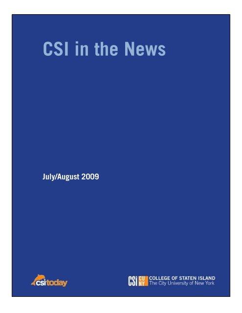 CSI in the News - CSI Today