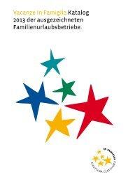 Katalog 2013 der ausgezeichneten Betriebe - in Famiglia