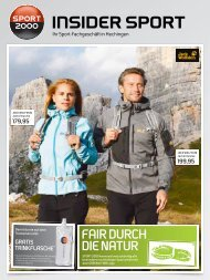 Ihr Sport-Fachgeschäft In Hechingen - bei INSIDER SPORT