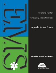 Rural/Frontier EMS Agenda for the Future - International Roundtable ...