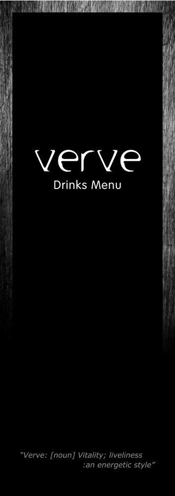 Download a PDF version of our Drinks Menu - Bar Verve