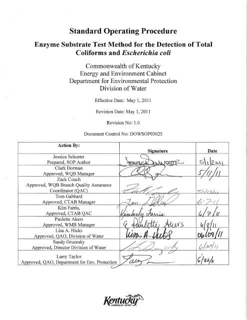 Bacteria Lab SOP Final pdf - Division of Water