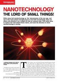 nanotechnoloGy - EFY Magazine