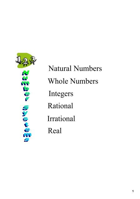 Categorizing Roots Whole Natural Integer Rational Manual Guide