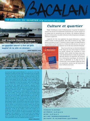 Culture et quartier - bacalanstory