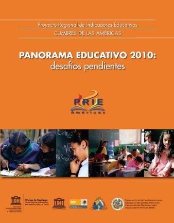 Panorama educativo 2010: desafíos pendientes ... - unesdoc - Unesco