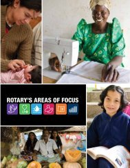 RotaRy's aReas of focus - Maternal Health