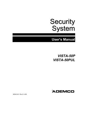 first alert fa 1600c security networks rh yumpu com User Manual Template Instruction Manual Example