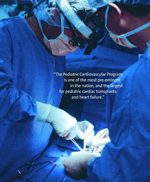Pediatric Cardiovascular Program is one of the most pre - Columbia