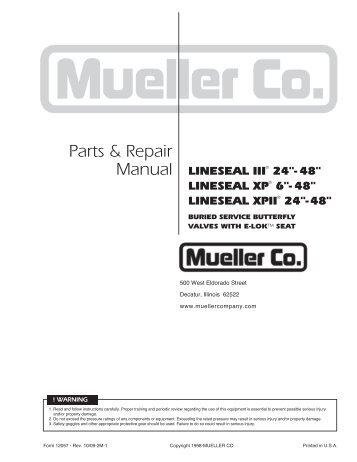 Manual - Mueller Co.