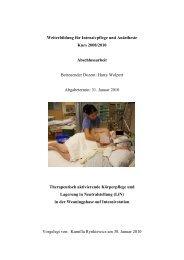 Therapeutische PflegeKorrektur - LiN