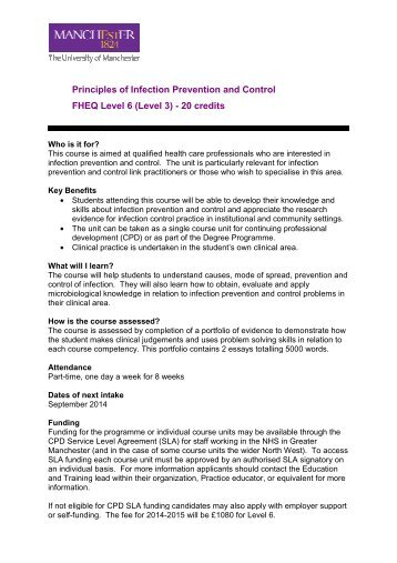 unit ic01 the principles of infection prevention and control Unit 19 /ic 01 the principles of infection prevention and health and safe in health and social care principles of infection prevention and control.