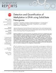 Detection and Quantification of Methylation in DNA using Solid-State ...