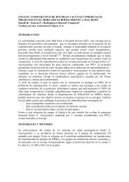 ENSAYO COMPARATIVO DE DIVERSAS VACUNAS ...