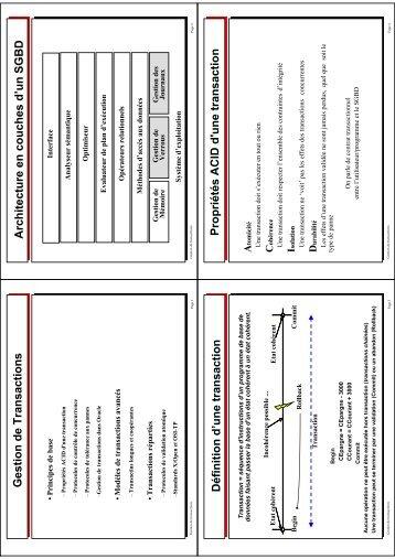 Gestion de Transactions Architecture e n couches d'un ... - smis inria