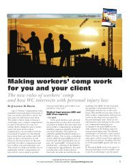 Make workers' compensation work for your client and you - Plaintiff