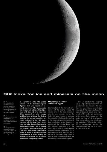 SIR looks for ice and minerals on the moon