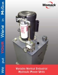 Variable Vertical Industrial Hydraulic Power Units - Womack ...