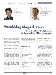 Weiterbildung erfolgreich steuern - Wirtschaftsuniversität Wien