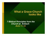 What a Grace-Church looks like