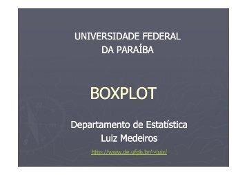 Aula 8 – Boxplot - Departamento de Estatística - Universidade ...