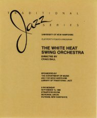 the white heat swing orchestra - Special Collections & Archives