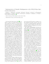 Implementation of Chamber Misalignments in the ATLAS Muon Spec