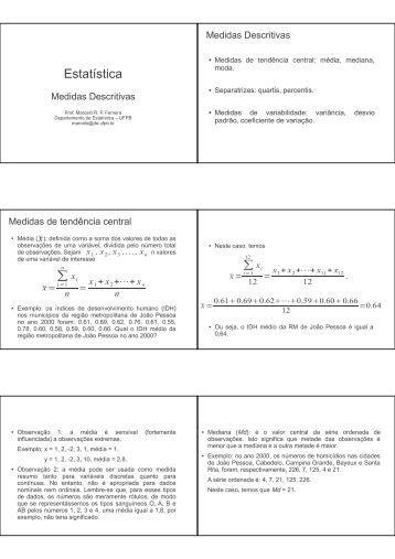 Versão para impressão - Departamento de Estatística