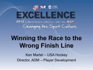 Winning the Race to the Wrong Finish Line - USSA